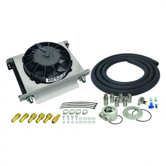 Derale Performance® - 25 Row Hyper-Cool Remote Engine Oil Cooler Kit, -8AN