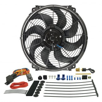 "Derale Performance® - 16"" Tornado Electric Fan & 180°F Dual Probe Fan Controller Kit"