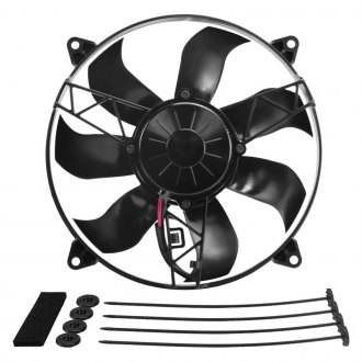 "Derale Performance® - 12"" High Output IP-68 Electric Puller Fan - 12""W x 12""H x 1-5/8""D"