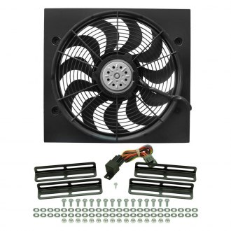 "Derale Performance® - High Output 17"" Electric Fan/Black Steel Shroud Kit - 19-1/2""W x 18""H x 1-5/8""D"