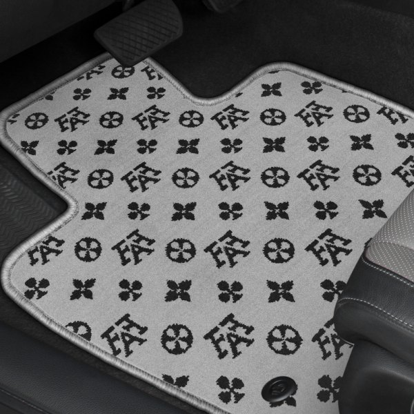 Designer Mat® - Fashion Auto Mat™ Black/Gray Carpeted Mats