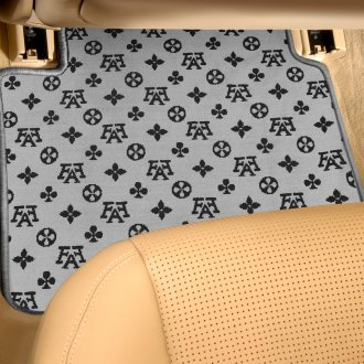 Designer Mat® - Fashion Auto Mat™ 2nd Row Black/Gray Carpeted Floor Mats