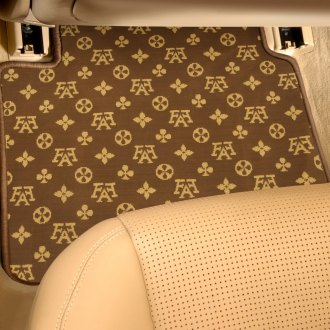 Designer Mat® - Fashion Auto Mat™ 2nd Row Brown/Beige Carpeted Floor Mats