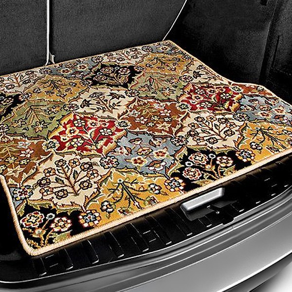 Image may not reflect your exact vehicle! Designer Mat® - Oriental Auto Mat™ Large Multicolor Carpeted Cargo Mat