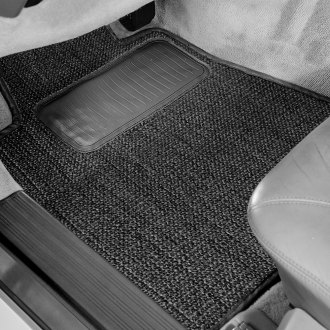 Designer Mat® - Sisal Auto Mat™ 1st Row Black Carpeted Floor Mats