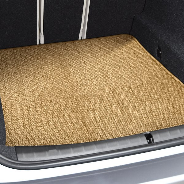 Image may not reflect your exact vehicle! Designer Mat® - Sisal Auto Mat™ Small Beige (Tan) Carpeted Cargo Mat
