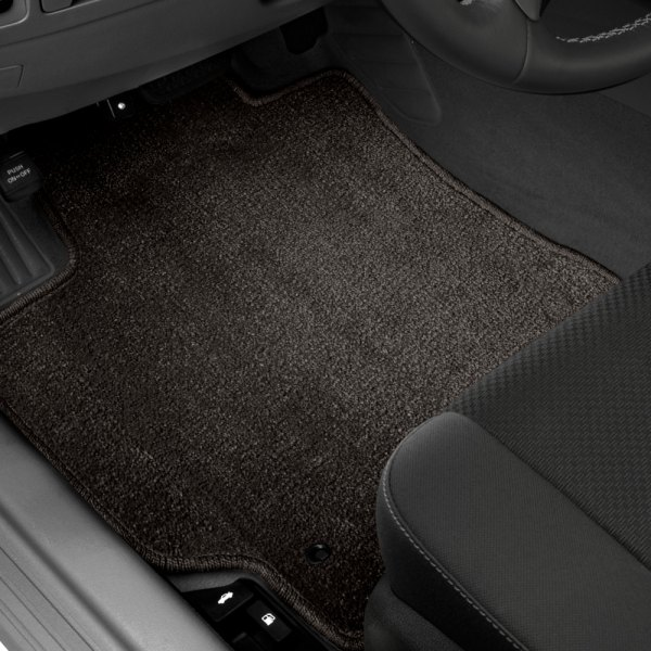 Designer Mat® - Super Plush Auto Mat™ 1st Row Ebony Carpeted Floor Mats