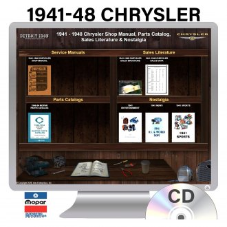 Detroit Iron® - 1941-1948 Chrysler Factory OEM Shop Manuals on CD