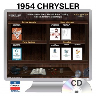 Detroit Iron® - 1954 Chrysler Factory OEM Shop Manuals on CD