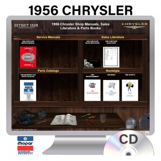 Detroit Iron® - 1956 Chrysler Factory OEM Shop Manuals on CD
