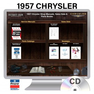 Detroit Iron® - 1957 Chrysler Factory OEM Shop Manuals on CD