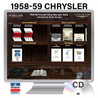 Detroit Iron® - 1958-1959 Chrysler Factory OEM Shop Manuals on CD