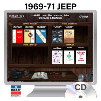Detroit Iron® - 1969-1971 Jeep Factory OEM Shop Manuals on CD