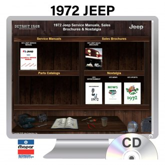Detroit Iron® - 1972 Jeep Factory OEM Shop Manuals on CD