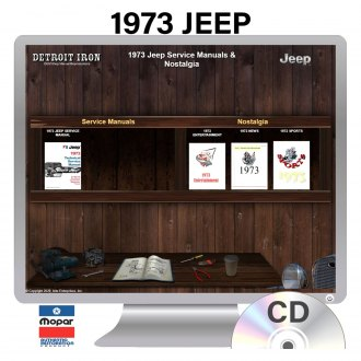 Detroit Iron® - 1973 Jeep Factory OEM Shop Manuals on CD