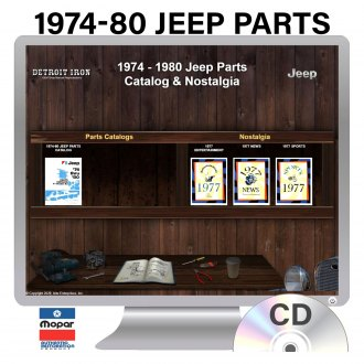 Detroit Iron® - 1974-1980 Jeep Illustrated Part Number Books on 2 CDs