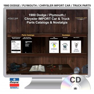 Detroit Iron® - 1980 Dodge/Plymouth/Chrysler Import Car & Truck Parts Manuals on CD