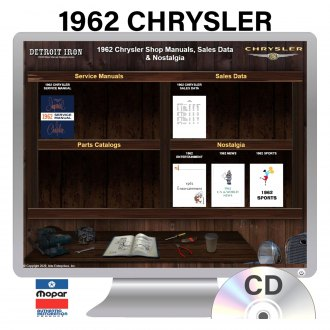 Detroit Iron® - 1962 Chrysler Factory OEM Shop Manuals on CD
