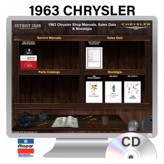 Detroit Iron® - 1963 Chrysler Factory OEM Shop Manuals on CD