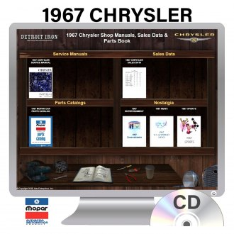 Detroit Iron® - 1967 Chrysler Factory OEM Shop Manuals on CD