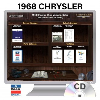 Detroit Iron® - 1968 Chrysler Factory OEM Shop Manuals on CD