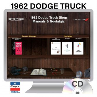 Detroit Iron® - 1962 Dodge Truck Factory OEM Shop Manuals on CD