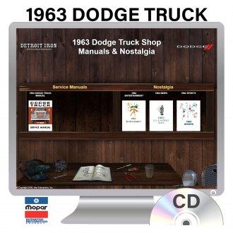 Detroit Iron® - 1963 Dodge Truck Factory OEM Shop Manuals on CD