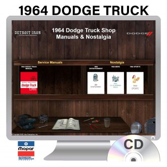 Detroit Iron® - 1964 Dodge Truck Factory OEM Shop Manuals on CD
