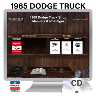 Detroit Iron® - 1965 Dodge Truck Factory OEM Shop Manuals on CD