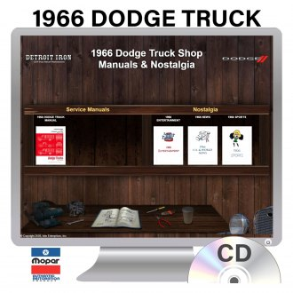 Detroit Iron® - 1966 Dodge Truck Factory OEM Shop Manuals on CD
