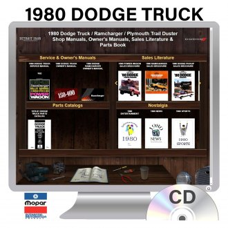 Detroit Iron® - 1980 Dodge Truck Factory OEM Shop Manuals on CD