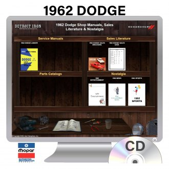 Detroit Iron® - 1962 Dodge Factory OEM Shop Manuals on CD