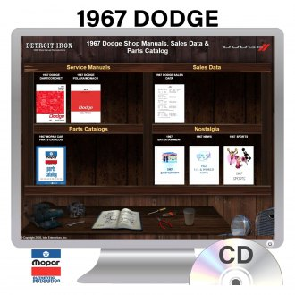 Detroit Iron® - 1967 Dodge Factory OEM Shop Manuals on CD