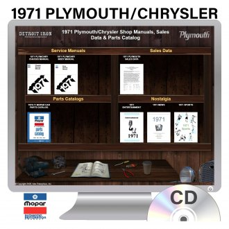Detroit Iron® - 1971 Plymouth Chrysler Factory OEM Shop Manuals on CD