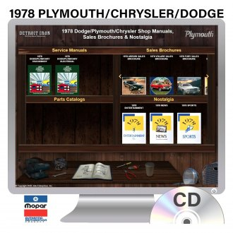 Detroit Iron® - 1978 Plymouth Chrysler/Dodge Factory OEM Shop Manuals on CD