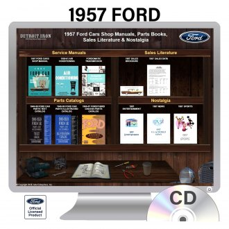 Detroit Iron® - 1957 Ford Factory OEM Shop Manuals on CD