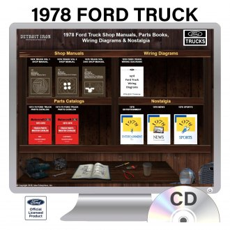 Detroit Iron® - 1978 Ford Truck Factory OEM Shop Manuals on CD
