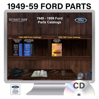 Detroit Iron® - 1949-1959 Ford Parts Manuals on CD