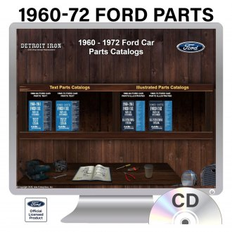Detroit Iron® - 1960-1972 Ford Parts Manuals on CD