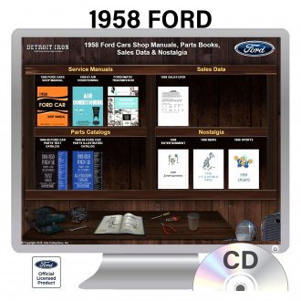 Detroit Iron® - 1958 Ford Factory OEM Shop Manuals on CD