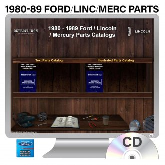 Detroit Iron® - 1980-1989 Ford/Lincoln/Mercury Parts Manuals on CD