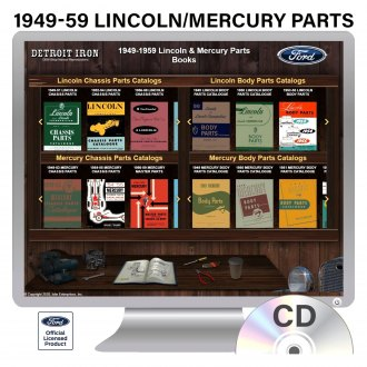 Detroit Iron® - 1949-1959 Lincoln/Mercury Parts Manuals on CD