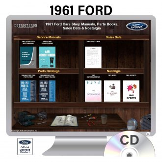 Detroit Iron® - 1961 Ford Factory OEM Shop Manuals on CD