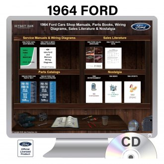 Detroit Iron® - 1964 Ford Factory OEM Shop Manuals on CD