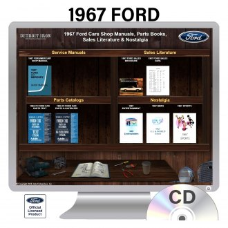 Detroit Iron® - 1967 Ford Factory OEM Shop Manuals on 2 CDs