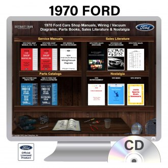 Detroit Iron® - 1970 Ford Car Factory OEM Shop Manuals on 2 CDs