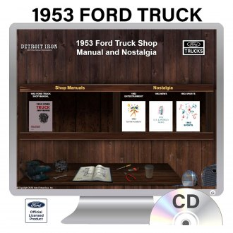 Detroit Iron® - 1953 Ford Truck Factory OEM Shop Manuals on CD
