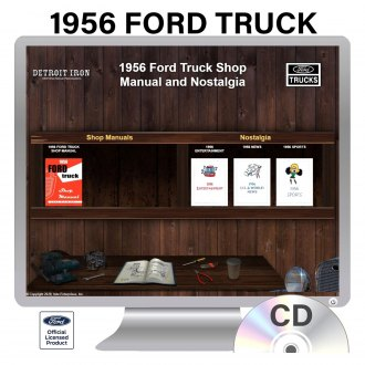 Detroit Iron® - 1956 Ford Truck Factory OEM Shop Manuals on CD