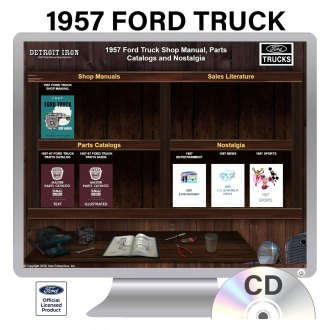 Detroit Iron® - 1957 Ford Truck Factory OEM Shop Manuals on CD