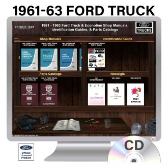 Detroit Iron® - 1961-1963 Ford Trucks Factory OEM Shop Manuals on CD